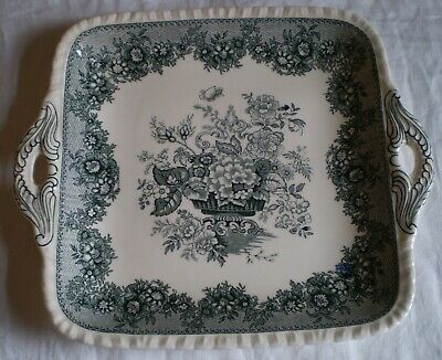 Masons Ascot Pattern Grey/green Colourway Cake Plate • 7£