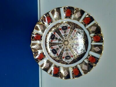 Royal Crown Derby FLUTED PLATE IMARI . NEW • 100£