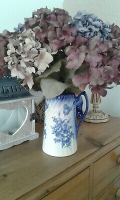 Made In England VINTAGE BLUE AND WHITE Pitcher/jug..cottage/french Shabby Chic • 18£