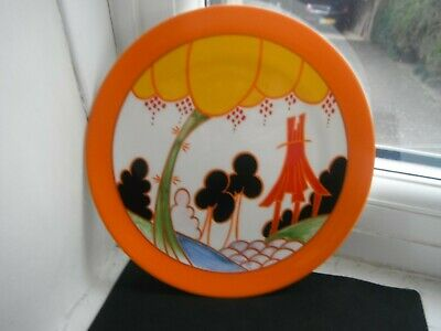 CLARICE CLIFF   SUMMERHOUSE  PLATE- By WEDGWOOD - MINT • 15£