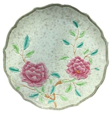 Hand Painted HJ Wood Floral Cabinet Plate #1793 • 1.99£