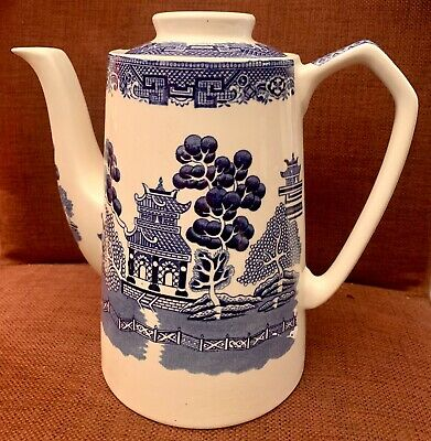 Myott Old Willow Large Coffee Pot - Blue & White  • 35£