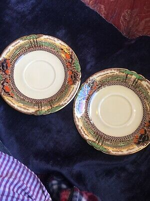 2 Vintage Myott Son & Co Saucers.   • 2£