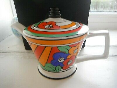 CLARICE CLIFF STYLE   BIZARRE   TEAPOT  By PAST TIMES - V.G.C. • 20£