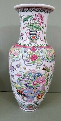 Large Famille Vert Chinoisorie Vase - Marks - In Very Good Condition • 30£