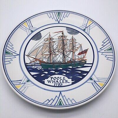Poole Pottery 'Poole Whaler 1783' Ship Plate Hand Painted • 80£