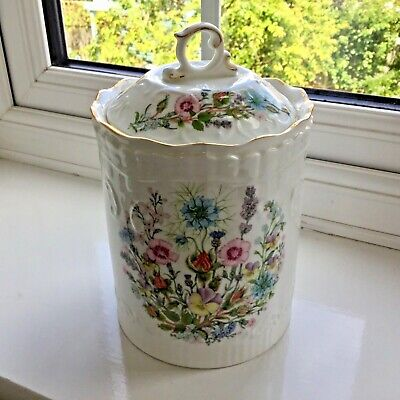 Aynsley Wild Tudor Fine Bone China Pot With Lid  • 15.95£