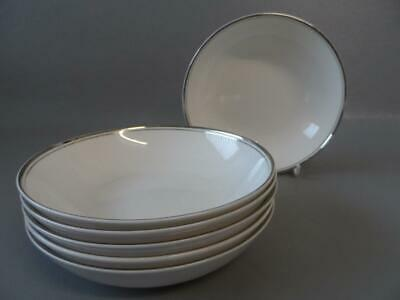 Royal Doulton Concord Platinum 6 X Cereal / Soup / Dessert Bowls Hardly Used • 29.99£