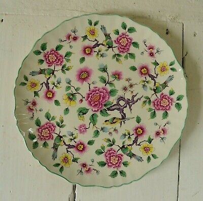 Vintage James Kent Plate W/ Old Foley Chinese Rose W Birds Made In England • 20£