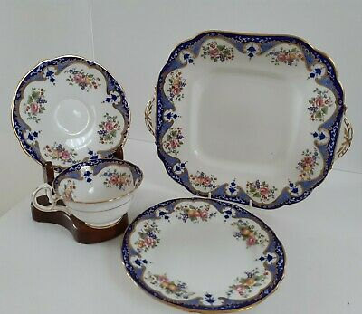 Aynsley Bone China Early 20th Century Tea Trio & Cake Plate Pattern 4881 • 19.99£