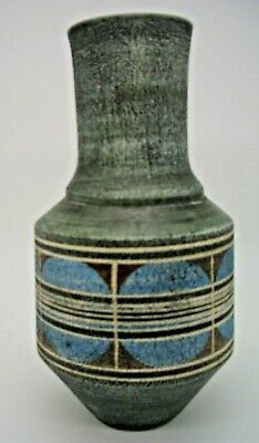 Troika Cylinder Urn Decorated By Jane Fitzgerald • 295£