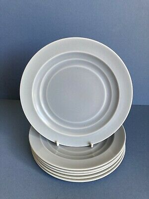 Branksome China Graceline Set Of 6 Grey Tea/side Plates • 15£