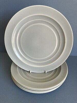 Branksome China Graceline Set Of 6 Grey Salad Plates • 20£