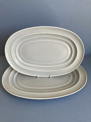 Branksome China Graceline Pair Of Platters • 30£