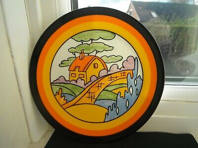 CLARICE CLIFF  ORANGE ROOF COTTAGE  PLATE - By WEDGWOOD -LTD EDITION • 16£