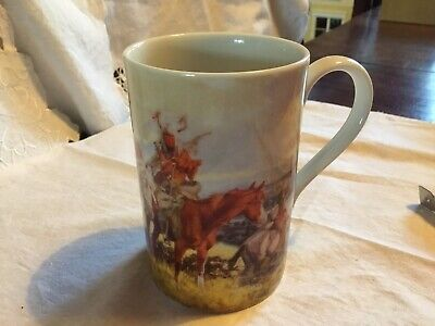 Dunoon Latte Mug Native American Indians Frontier By C M Russell • 0.99£