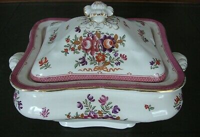 Booths Vintage Large Silicon China Pottery Tureen And Cover - Excellent • 23.99£