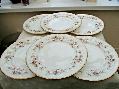 6 X PARAGON CHINA VICTORIANA ROSE  10.5  DINNER PLATES,1ST QUALITY. • 24£