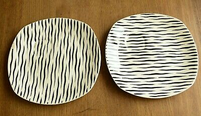 Vintage Rare Midwinter Modern Zambesi Party Plate With Recess For Cup X 2 • 14£