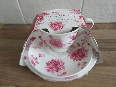 Laura Ashley Cup, Saucer And Side Plate Set In Original Packaging. • 6£