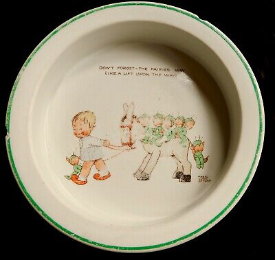 Collectable Vintage Baby Dish By Shelley Copyright Design Mabel Lucie Atwell • 5£