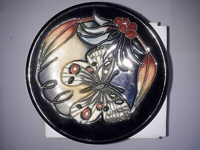 Moorcroft 4.5 Inch Pin Dish Or Tray Red Dot, Butterfly, Excellent Condition. • 20.99£