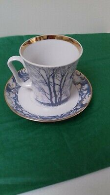 Collectable 12 Fl Oz Mug & Saucer Made In USSR Church On Nerl • 1.99£