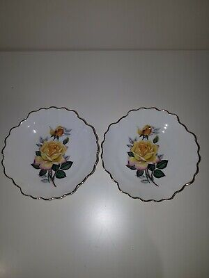 Two Royal Adderley Floral Bone China Small Plates • 1.10£
