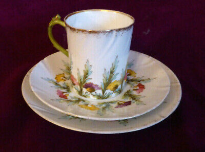 Antique Limoges  France Cup, Saucer, Side Plate Trio (a) • 12.99£