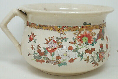Late 19th Century Japanese Possibly Kyoto Chamber Pot In Western Style • 28.80£