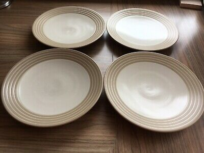 Denby Intro Sand Side Plates X 4 • 6£