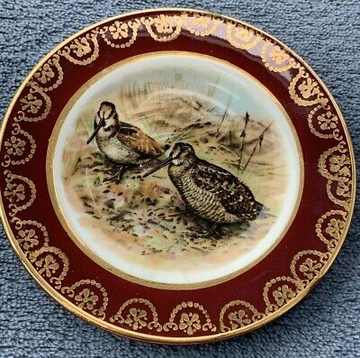 """Arklow Republic Of Ireland 4"""" Plate Beautifully Decorated With Wild Birds Snipe • 0.99£"""