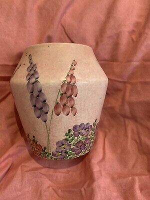 Art Deco E Radford Burslem Hand Painted Floral Vase / Pot • 4£