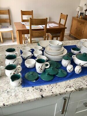 Large Collection Of Denby Green Wheat Pottery. Sold As One Job Lot. • 0.99£