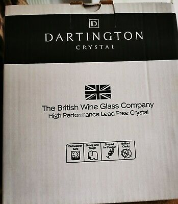 2 Darlington Crystal Red Wine Glasses New And Boxed  • 11.99£