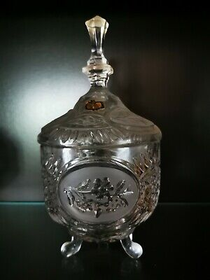 Crystal Glass Round Sweet Bon Bon  Jar.Very Nice. • 9.99£