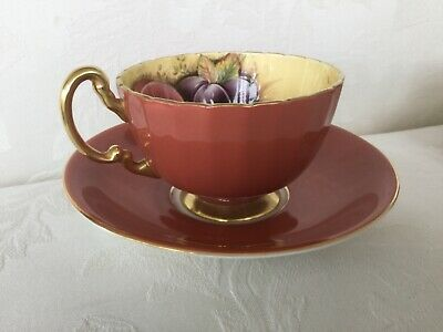 AYNSLEY  ORCHARD GOLD FRUIT CUP AND SAUCER  PERFECT CONDITION  Stored And Wrappe • 5.50£