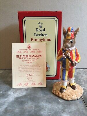 Limited Edition Royal Doulton Mr Punch Bunnykins DB234 With Certificate & Box • 9.99£