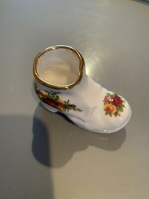 Collectable Royal Albert Bone China Old Country Roses Boot • 2.60£