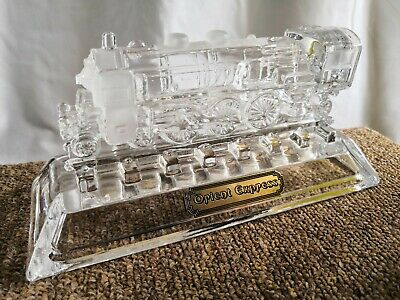 Crystal Orient Express Steam Engine Ornament By Hofbauer Of Germany • 10£