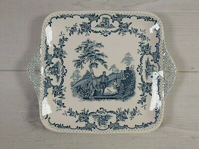 Mason's Patent Ironstone Blue Romantic Made In England Serving Platter Square • 9.99£
