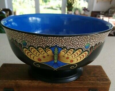 AF Art Deco Crown Ducal For Lawleys Norfolk Pottery Large Butterfly Bowl  • 20£