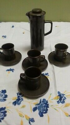Retro  Govancroft Coffee Pot With 4 Cups And Saucers • 15£