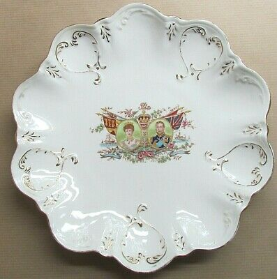 COLCLOUGH CHINA COMMEMORATIVE CORONATION KING GEORGE V & QUEEN MARY (Ref5624) • 19.50£