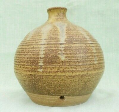 Studio Pottery Lamp Base - Roch, South Wales - 17.5 Cms (7 ) Tall • 14.99£