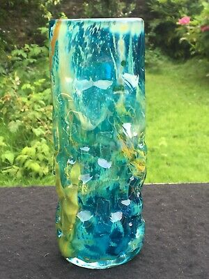 Mdina Maltese Bark Textured Art Glass Vase 19.5 Cm High Signed Mdina On Base • 32£