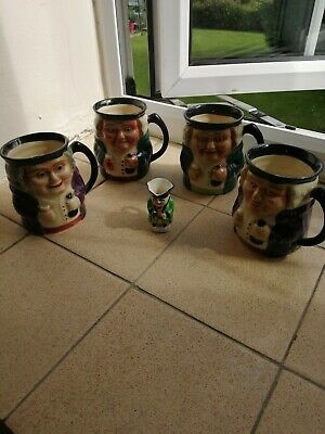 4 X Vintage Shorter And Sons Toby Jug • 19£