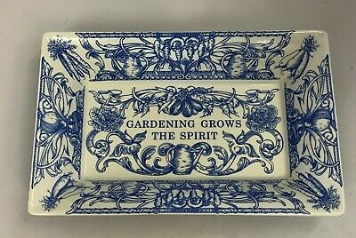NEW Spode Blue Room Collection 8.5  Rectangular Tray  Gardening Grows The Spirit • 14.99£