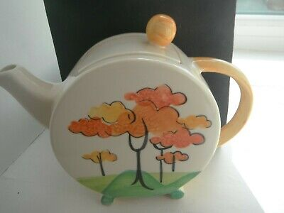 CLARICE CLIFF STYLE  TEAPOT  By PAST TIMES - SUPERB • 18£