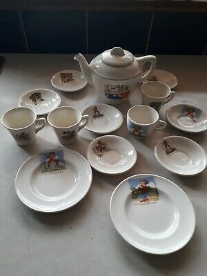 Vintage Deco Part Nursery Tea Set. 14 Pieces. Sing A Song Of Sixpence.... • 16.50£